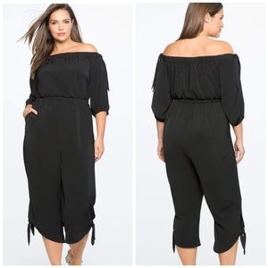 NWT Eloquii Off Shoulder Cropped JumpSuit Sz 28